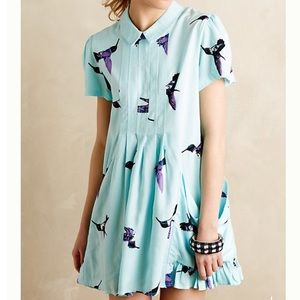 NWT Anthropologie Hummingbird Skyward Dress